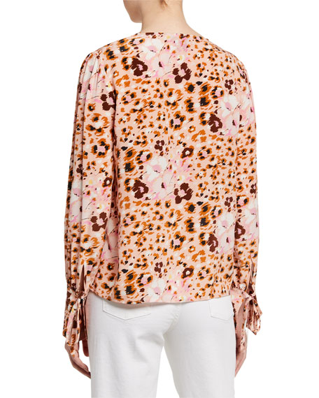 PAIGE Giulana Printed Long-Sleeve Top