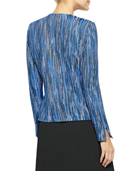 Misook Zip-Up Melange Knit Jacket