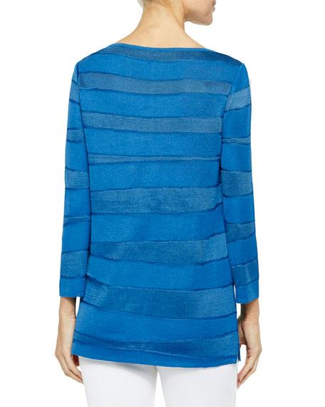 Misook Ocean Wave Knit Tunic