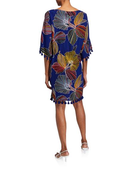 Trina Turk Spring Tassel-Trim Shift Dress