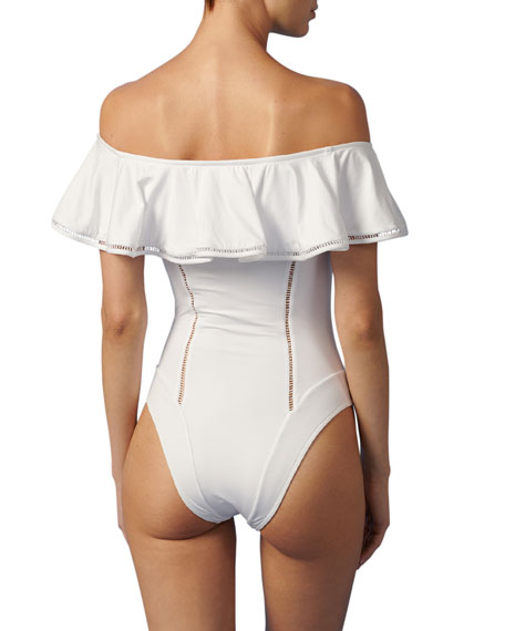 Image 2 of 2: Paolita Bianca Off-Shoulder One-Piece Swimsuit