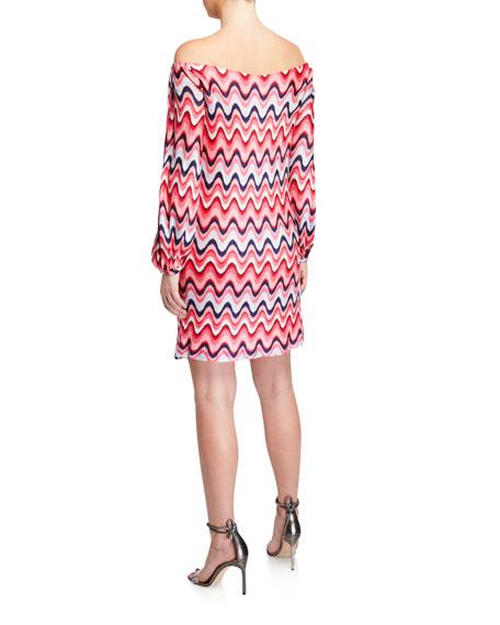 Trina Turk Fresh Off-the-Shoulder Floral Jacquard Dress