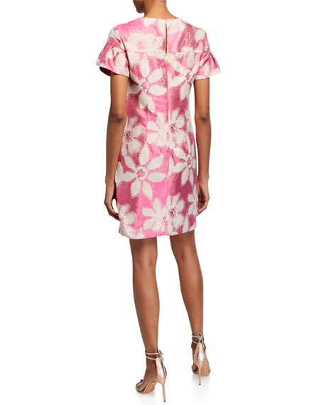 Image 2 of 2: Trina Turk Jacinta Floral Jacquard Dress