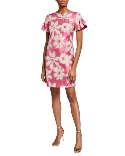 Jacinta Floral Jacquard Dress