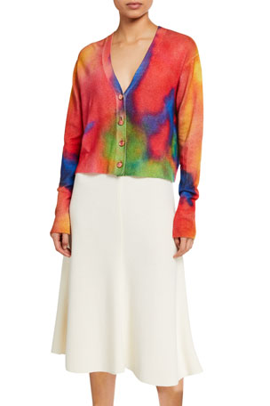 Le Superbe Palm Beach Tie-Dye Cashmere Cardigan
