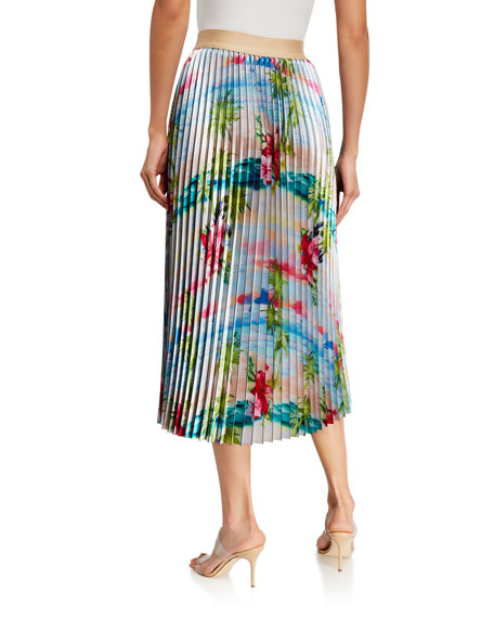 Image 2 of 3: Le Superbe Pretty Pleats Floral-Print Skirt
