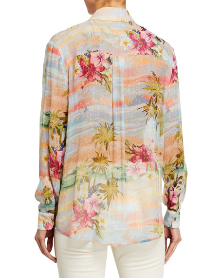 Image 2 of 2: Le Superbe Future Ex-Boyfriend Tropical Printed Shirt