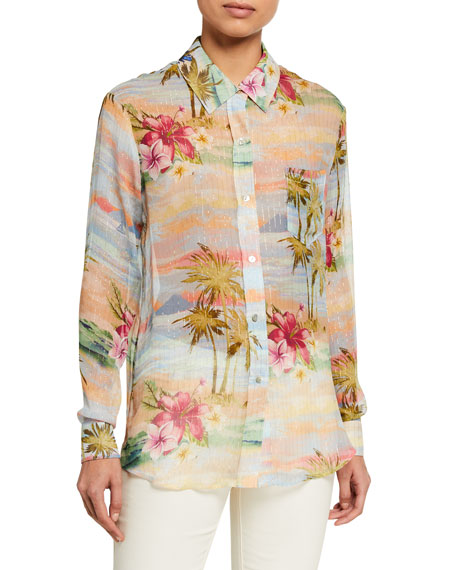Image 1 of 2: Le Superbe Future Ex-Boyfriend Tropical Printed Shirt