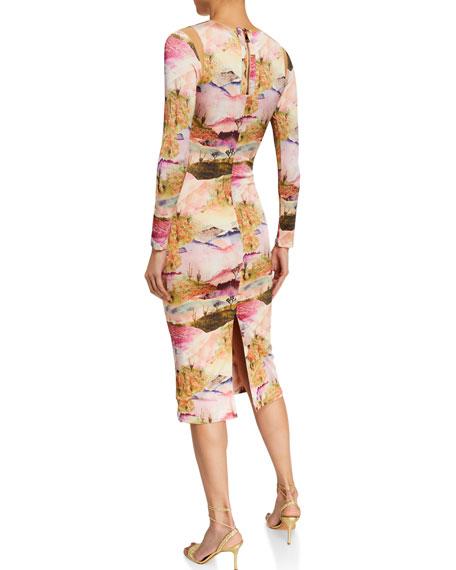 Le Superbe Kate Desert-Print Long-Sleeve Dress