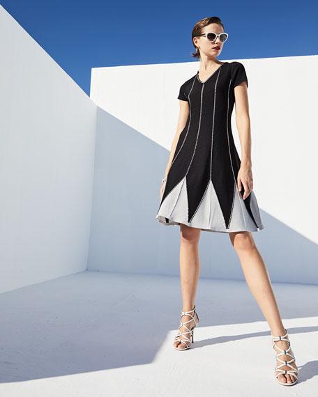 NIC+ZOE Petunia Short-Sleeve Twirl Dress