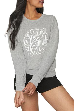 Spiritual Gangster Savasana Logo Crewneck Heathered Sweatshirt