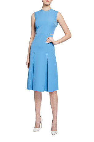 Victoria Victoria Beckham Slit Detail Sleeveless Midi Dress