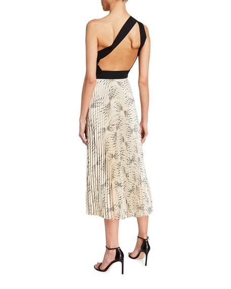 Victoria Victoria Beckham Off-Shoulder Backless Midi Dress