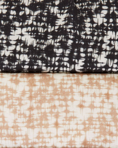 Eileen Fisher Prism Print Silk/Organic Cotton Long-Sleeve Dress
