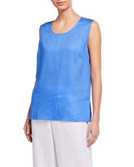 Caroline Rose Tissue-Linen Long Tank Top