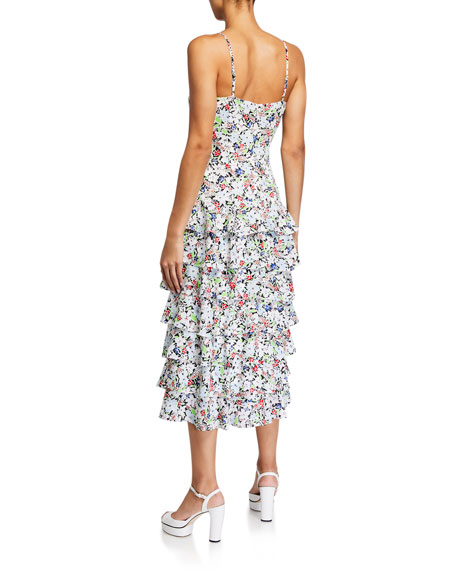 Likely Ariella Floral-Print Tiered Ruffle Dress