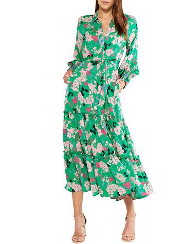 Esmee Belted Floral-Print Dress