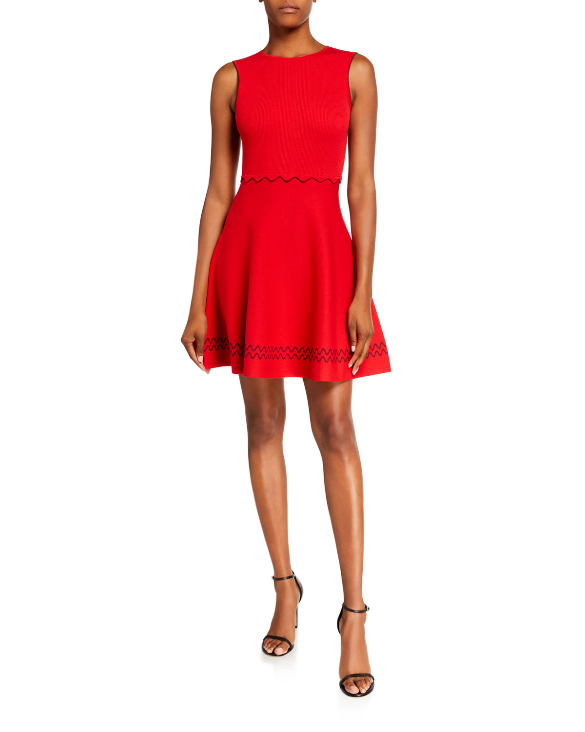 Ted Baker Cloeei Scallop Detail Sleeveless Fit-&-Flare Dress