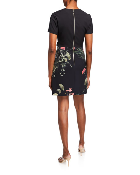 Ted Baker Mizalia Highland Wrap Front Floral Dress