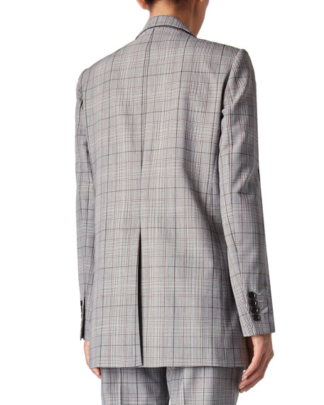 Judith & Charles Pixel Plaid One-Button Jacket