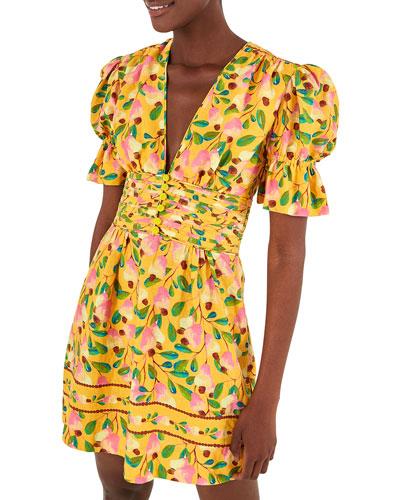 Cashew Printed Mini Dress