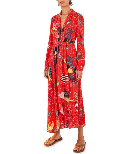 Carnival Long-Sleeve Maxi Dress