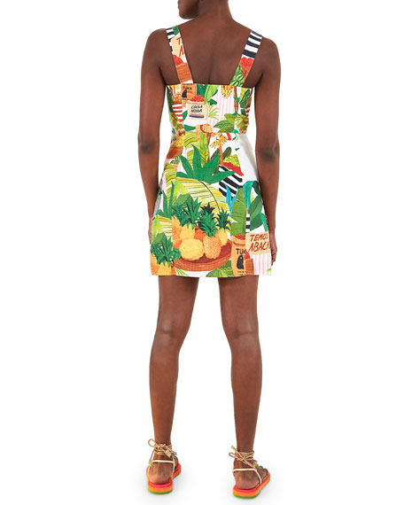 Image 3 of 5: Farm Rio Tropical Fair Linen Mini Dress