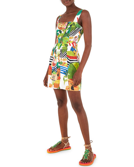 Image 1 of 5: Farm Rio Tropical Fair Linen Mini Dress