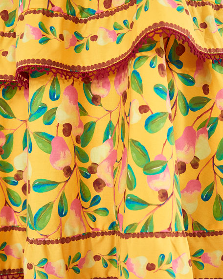 Image 5 of 5: Farm Rio Cashew Tiered Midi Dress