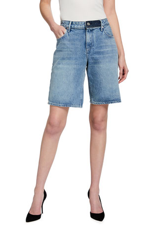 RtA Jami Baggy Denim Shorts