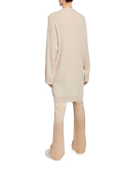 Image 2 of 3: Sablyn Two-Pocket Long Cashmere Cardigan