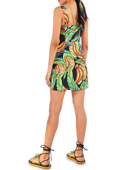 Farm Rio Preta Banana Linen Mini Dress