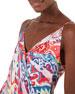 Farm Rio Ikat-Print Mini Wrap Dress