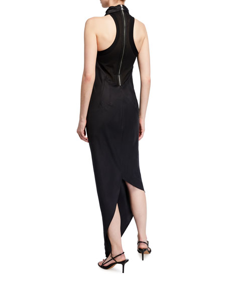 Image 2 of 2: RtA Drew Long Halter High-Low Dress