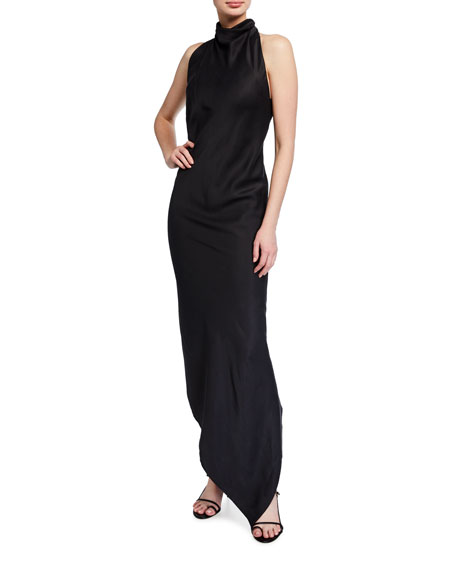 Image 1 of 2: RtA Drew Long Halter High-Low Dress