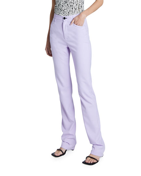 Proenza Schouler White Label Suiting High Waisted Skinny Pants