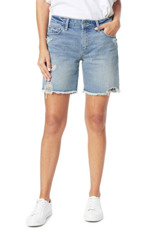 Joe's Jeans The 7 Bermuda Shorts with Fray Hem