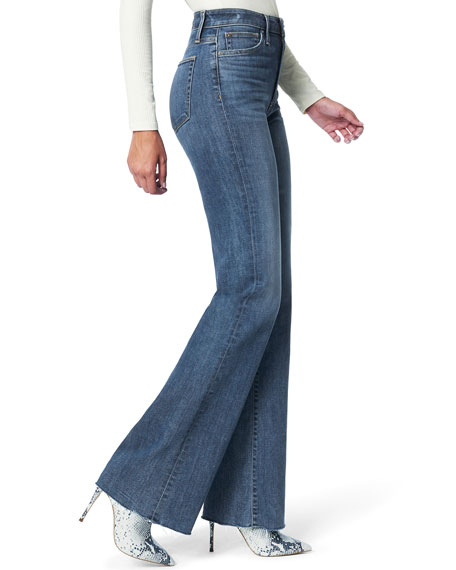 Joe's Jeans The Molly High Rise Flare Jeans with Cut Hem