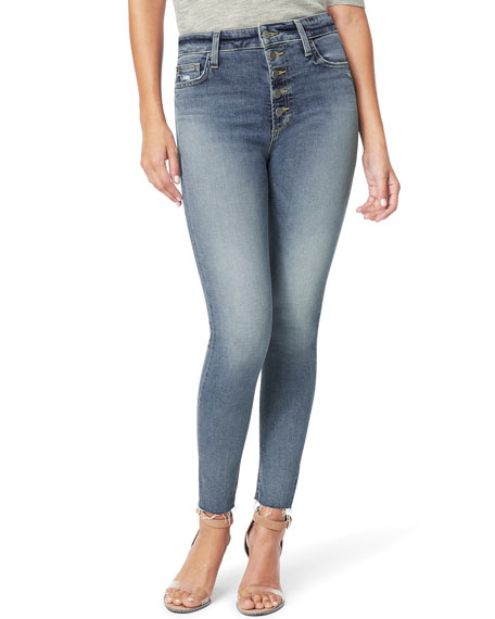 Joe's Jeans The Charlie Ankle Jeans with Cut Hem & Exposed Fly