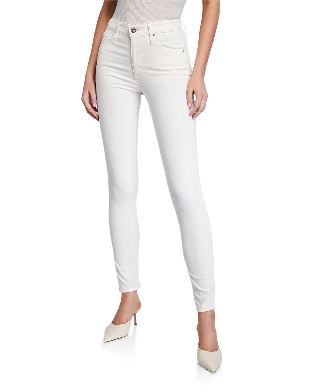 Adriano Goldschmied Womens The Farrah Velvet High Rise Skinny Pants BHFO 9584