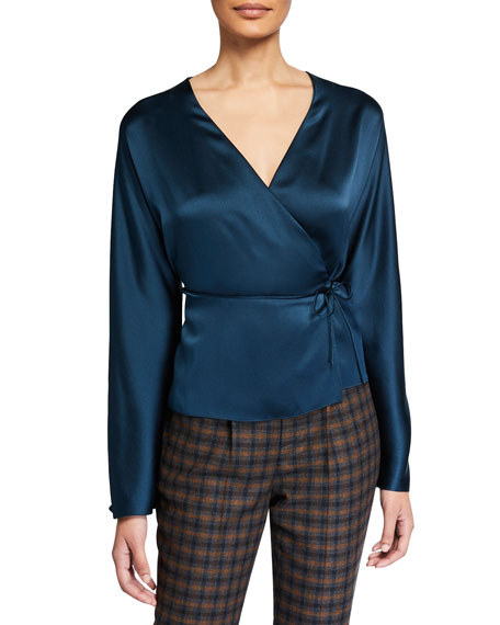 Image 1 of 2: Vince Silk Wrap Blouse