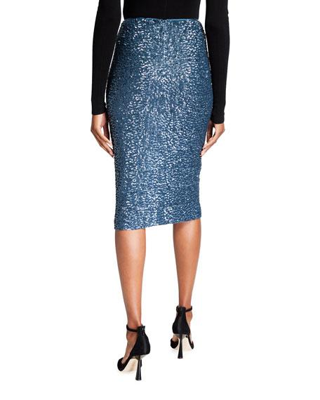 Lafayette 148 New York Casey Shimmering Sequin Pencil Skirt