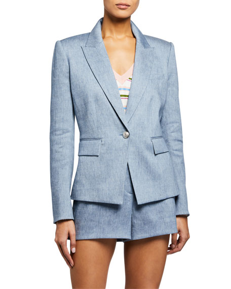 Image 3 of 3: Veronica Beard Danielle One-Button Dickey Jacket
