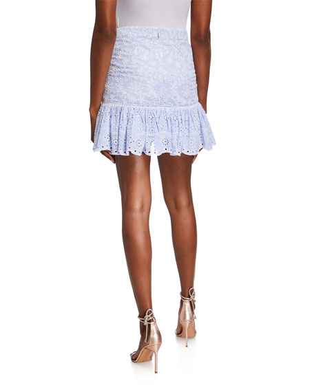 Veronica Beard Belanna Eyelet Skirt