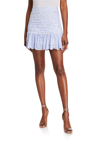 Veronica Beard Belanna Eyelet Skirt