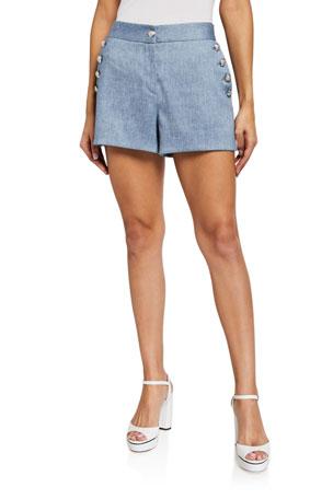 Veronica Beard Hoya Button Shorts