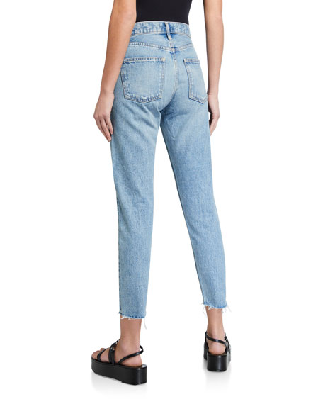 MOUSSY VINTAGE True Indigo Used Tapered High-Rise Jeans