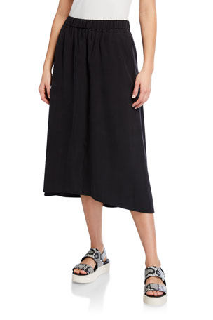 Eileen Fisher Plus Size Sandwashed Lyocell A-Line Skirt