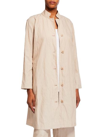 Eileen Fisher Petite Organic Cotton Steel Swing Jacket