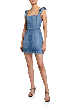 ALICE + OLIVIA JEANS Maryann Tie-Shoulder Dress
